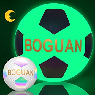 BOGUAN Soccer Ball Size 4/5 Holographic Reflective...