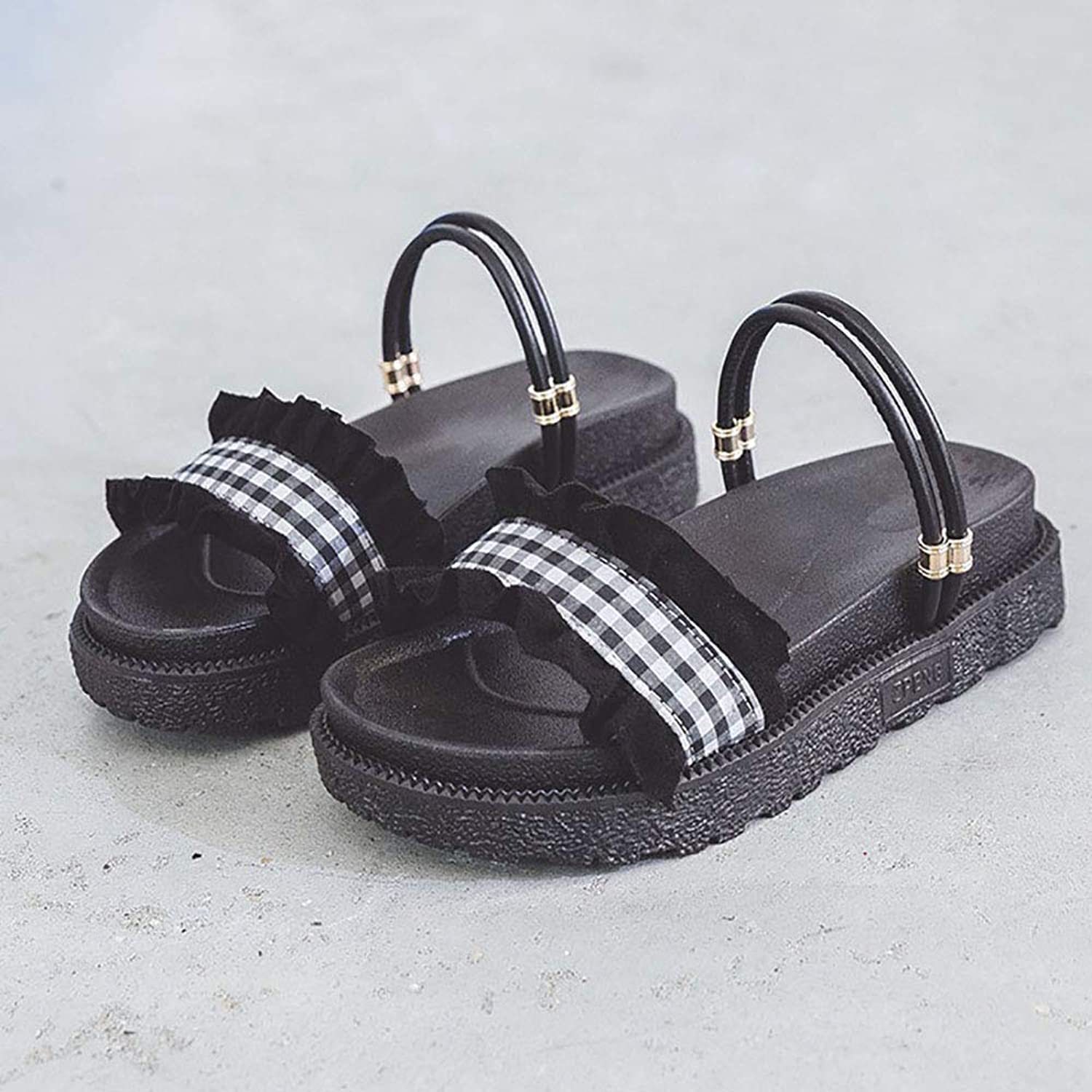 Sandals for Women, Gladiator Sandals for Women Platform Sandals Good Looking shoes in Two Ways to wear Comfortable Ruffled Flats shoes