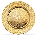 Home Collectives 13 Inch Round Elegant Serve ware Charger Plates with Matching Napkin Ring...
