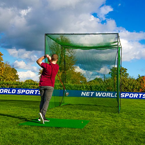 Cage et Filet Autoporteurs de Golf – Practice à Domicile (3m x 3m x 3m) [Net World Sports]