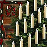 Hoolees  LED Christmas Tree Candle Lights, Candle Christmas Tree, Wireless, Flameless, Flickering, Clip-on, TUV Listed with Remote Control, for Christmas Tree Deco. (60Pcs Ivory)