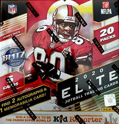2020 Panini Elite NFL Football HOBBY box (20 pks/bx)