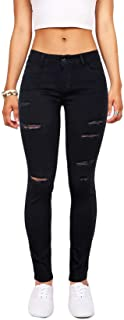 Women's Hight Waisted Butt Lift Stretch Ripped Skinny...