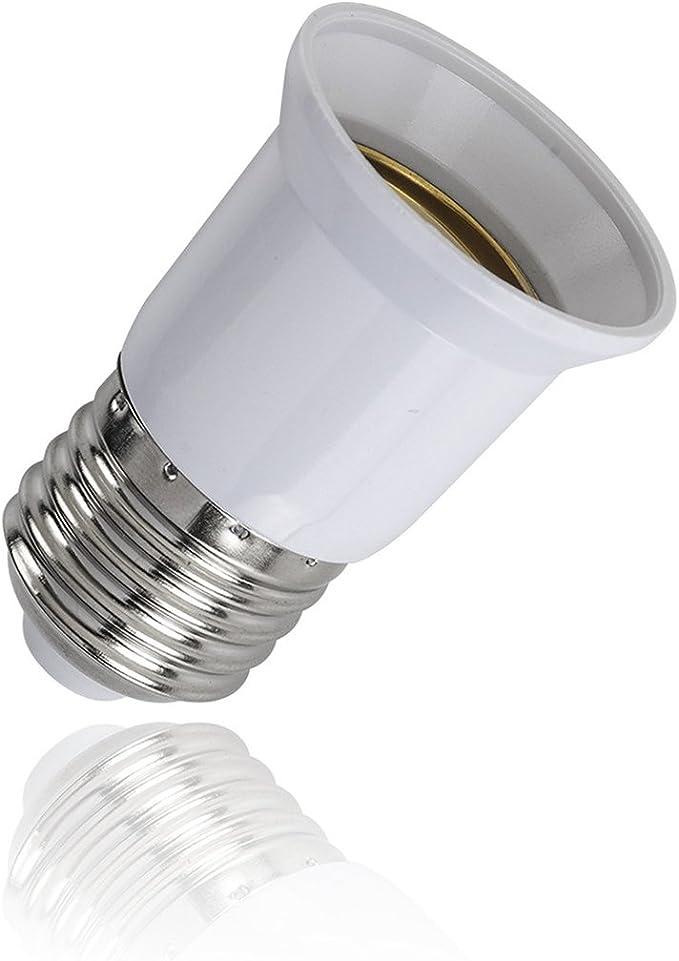 2x BAYONET B22 to EDISON E27 FITTING LIGHT BULB SOCKET ADAPTOR CONVERTER m f