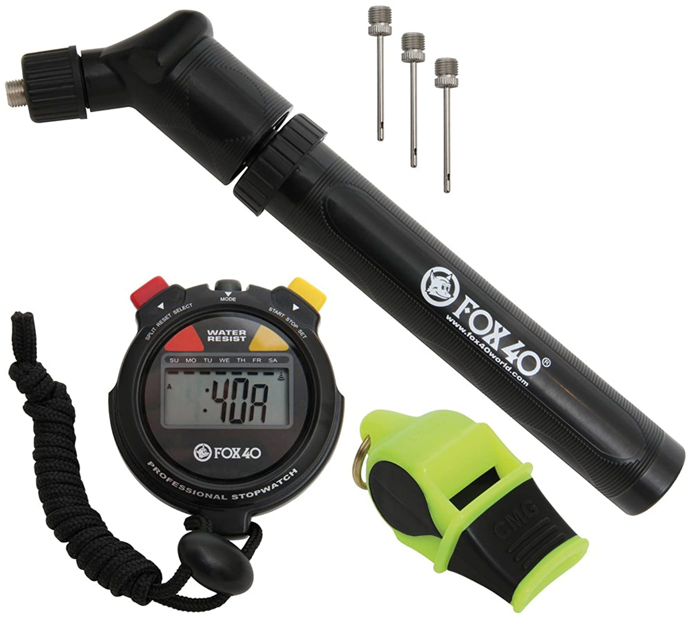 Fox 40 Games Kit - Pump, Whistle, Needles & Stopwatch