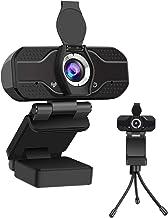 Webcam with Microphone, BOPOREA PC Webcams Desktop & Laptop 1080P Full HD USB Computer Web Cam with Microphone Widescreen ...