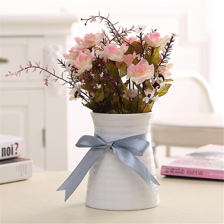 エレベーター人道的やろうVANCORE フラワーベース 花器 花瓶 一輪挿し 陶器 渦巻き白