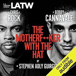 The Motherf--ker with the Hat                   By:                                                                                                                                 Stephen Adly Guirgis                               Narrated by:                                                                                                                                 Bobby Cannavale,                                                                                        Chris Rock,                                                                                        Elizabeth Rodriguez,                   and others                 Length: 1 hr and 32 mins     285 ratings     Overall 4.5