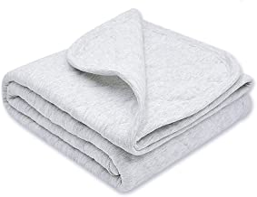 Zenssia Organic Cotton Baby Blanket Warm, Breathable and Super Soft Quilted Toddler..