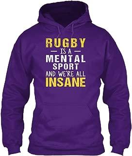 teespring Men's Rugby is A Mental. - Sweatshirt - Gildan 8Oz Heavy Blend Hoodie