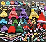 lovelypet lps Accessories (12pcs), lps Accessories Knit Cap Scraf Bandanas Glasses Collars Drinks fit lps Dog and Cat Kids Gift