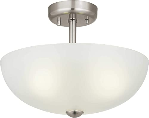 """high quality Three-Light 15"""" online outlet online sale Semi-Flush Convertible Glass Dome outlet sale"""