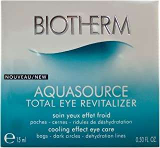 Biotherm Aquasource Total Eye Revitalizer for Unisex - 0.5 oz Eye Cream, 15 ml