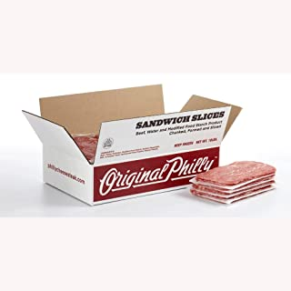 Original Philly WOW Seasoned Beef Sandwich Slices, 8 Ounce -- 20 per case.