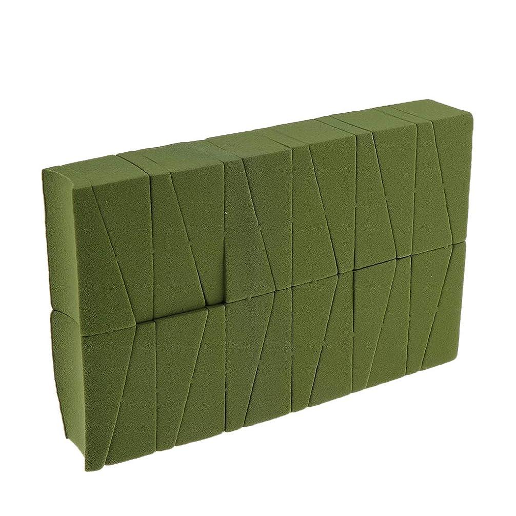 一般的に言えば有用演じるスポンジ 化粧 メイクスポンジパフ 約24カット 三角カット面 メイク道具 化粧用 全4色 - 緑