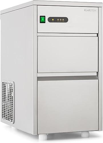 KLARSTEIN Powericer XL Machine à glaçons Industrielle - 145 W, Réservoir de Glace de 3,5 kg, Glace sans arrière goût,...