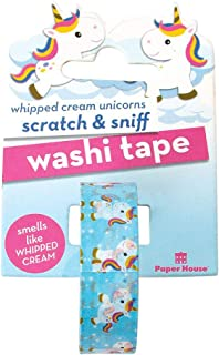Paper House Productions Rainbow Unicorn Whipped Cream Scented Scratch & Sniff Fun Print 15mm Washi Tape for Crafts and Scrapbooking