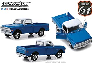 New DIECAST Toys CAR Highway 61 1:18 1970 Chevrolet C-10 with Lift KIT (Dark Blue Poly) HWY-18011