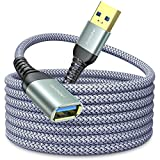 10FT USB 3.0 Extension Cable Type A Male to Female Extension Cord AINOPE High Data Transfer Compatible with USB Keyboard,Flash Drive, Hard Drive