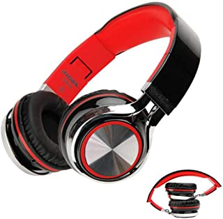 Keturi Headphones Noise Cancelling Bluetooth Foldable Headset Headphones with Microphone Deep Bass Wireless Headphones Over Ear 20 Hours Playtime for Travel Work Cellphone [Upgraded]