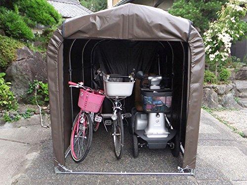 サイクルハウス 幅156cm×奥行220cm× 高さ165cm 3台用 耐久性抜群ターポリン生地 パイプ車庫 農具収納 自転車置場 組立簡単DIY 送料無料