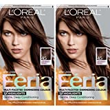 L'Oreal Paris Feria Multi-Faceted Shimmering Permanent Hair Color, French Roast, Pack of 2, Hair Dye