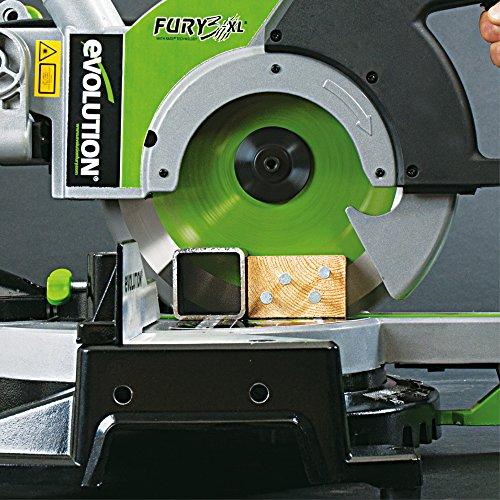 Evolution FURY3XL Scie à onglet radiale 255 mm - Vert