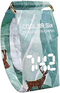 BCDshop New Creative Cool Watch LED Waterproof Clock Tyvek Paper Strap Digital Wrist Watches for Women Men (H)