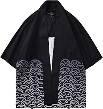 Chaqueta Haori De Verano Capa Ropa Japonesa para Hombre Abrigo Cardigan Kimono Hippie Ropa Casual
