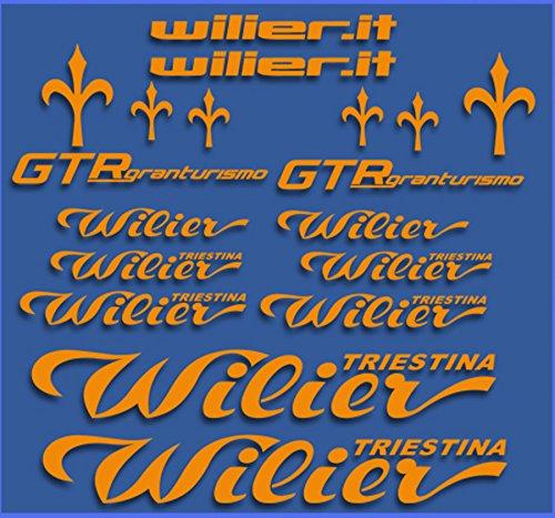 Ecoshirt A9-HTTU-5Q6C Aufkleber Wilier GTR Gran Turismo Dr1111 Stickers Aufkleber Decals Autocollants Adesivi, Orange