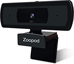 Webcam with Autofocus HD 1080P USB Camera PC Camera with Internal Microphone for Online Meetings Plug and Play for PC Desk...
