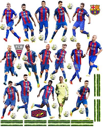 alles-meine.de GmbH 47 TLG. Set _ XL Wandtattoo / Sticker _  Fußball Mannschaft - FCB - FC Barcelona - Fußballverein  - zum Spielen & als Deko - Wandsticker - Aufkleber für Kin..