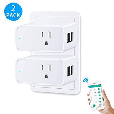WiFi Smart Plug, RAOYI Smart Outlet Plug 2 Pack...