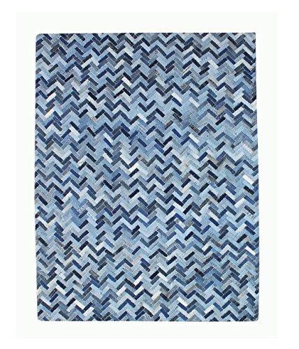 Meubletmoi Tappeto Blu 120x 180Patchwork Jeans Rettangolare–denin riciclate–Vali