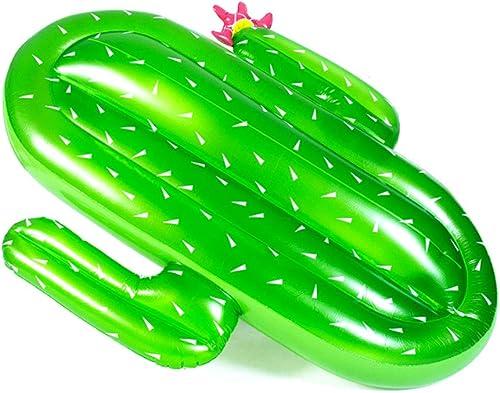 DIMPLEYA La Mode à la Mode Anneau de Bain d'eau Jouets Cactus en Forme de flotteHommest Adulte Gonflable Flottant lit Plage Flottante Accessoires de Photo de Vacances
