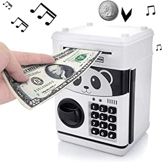 EMESON Panda Mini ATM Bank Piggy Bank Money Change Cash Saving Box Safe Toy Gift - Fits for Both Bills and Coins (Play 11 Songs)
