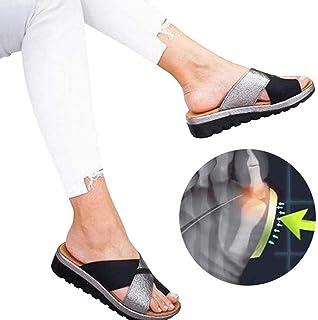 Bunion Sandals for Women, Bunion Corrector Platform Slippers Big Toe Bone Correction Summer Flip Flops Ladys Sandals Suitable for Everyday Wear