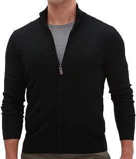 Banana Republic Men's Merino Wool-Blend Sweater Jacket, Black