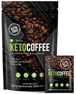 It Works Keto Coffee Ketocoffee 15 Individual Servings Per Bag, Original Formula With 9 Grams It Works Proprietary Thermogenic Blend