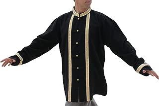 Raan Pah Muang RaanPahMuang Thai Grooms 正式或婚礼衬衫 Muang 棉 带丝带饰边