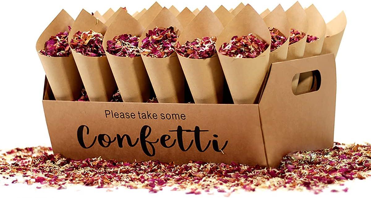 homeemoh Wedding Party Confetti Set, Include 1 Pcs Confetti Cone