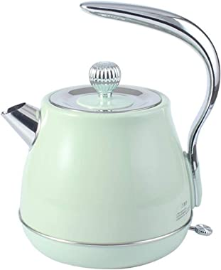 Kettle Retro 304 Stainless Steel Electric Kettle 1.5 L Portable Travel Water Boiler Coffee Pot (Color : Green)