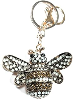 Teri's Boutique Bling Big Bumble Bee Honey Women Girl Charm Pendant Keychains (Gold), 2.5 inch wide x 2.5 inch long x 1 inch height