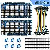 エレクトロクッキー Arduino Mega プロトタイプ シールドボードキット スタッカブル DIY 拡張 プロト プリント基板 PCB Arduino Mega 2560 R3用 (2枚セット)