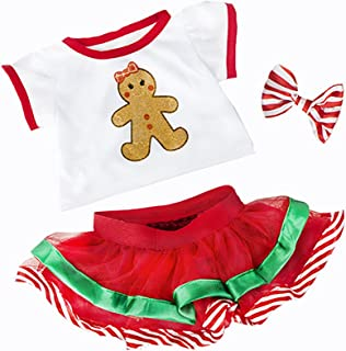 Teddy Mountain Christmas Gingerbread Outfit Teddy Clothes to fit 15-16 inches (40cm) Build a Bear