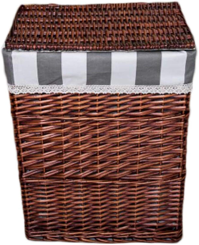 edición limitada en caliente KKY-Enter KKY-Enter KKY-Enter Cesto de la Ropa de lavandería Rattan con la Tapa del Dormitorio Cesta Sucia de la Suciedad Misceláneas Cesta de Almacenamiento portátil (Color   marrón, Tamao   31  26  38cm)  artículos novedosos