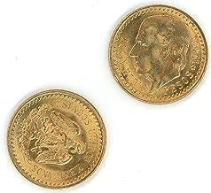 1945 MX 2 1/2 Pesos Mexican Gold Coin 2.5 Pesos BU
