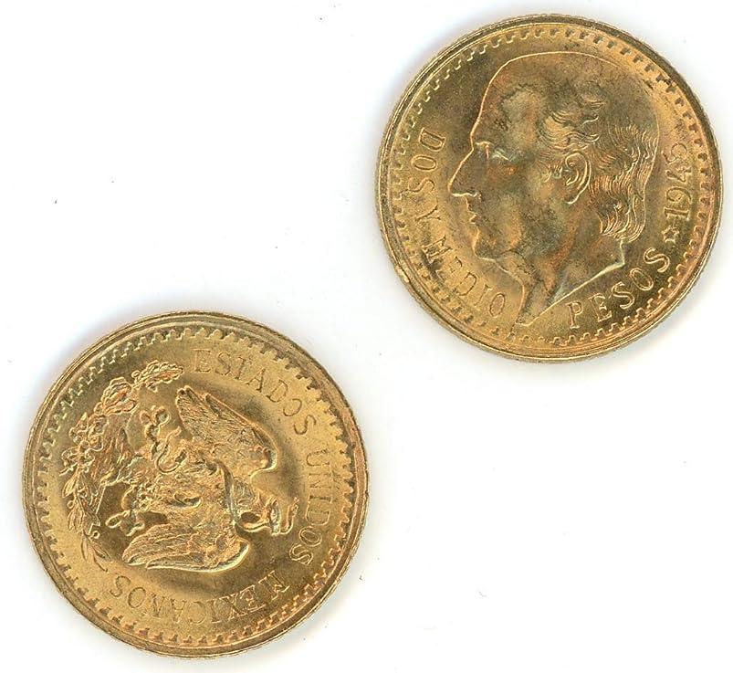 1945 MX 2 1/2 Pesos Mexican Gold Coin 2.5 Pesos BU dnpsnuce242727