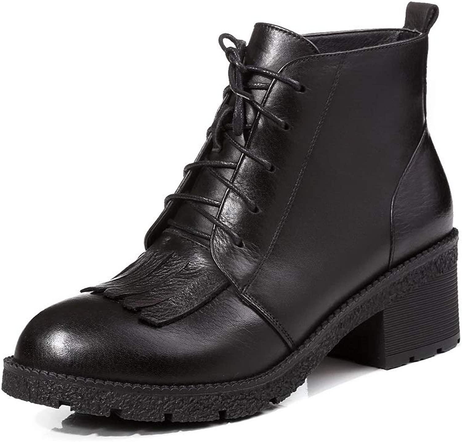 AdeeSu Womens Travel Warm Lining Solid Leather Boots SXE05175