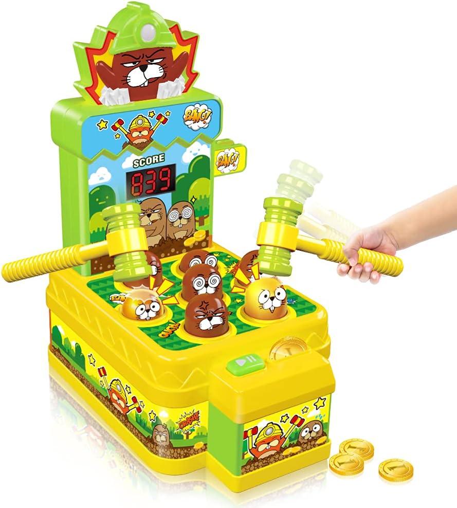 VATOS Whack Game Mole, Mini Electronic Arcade with 2 Hammers, Pounding...